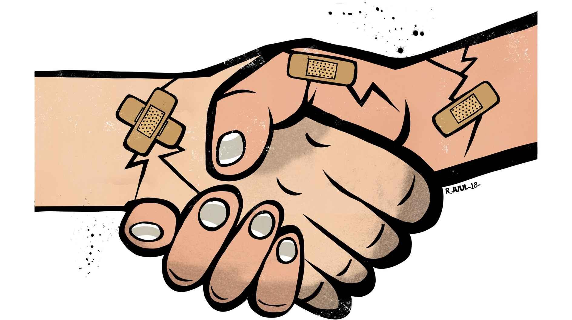 Det kræver mod at række hånden ud, når en relation er gået i stykker